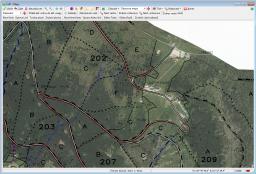 Prohlížení map (obrysová mapa s ortofoto)