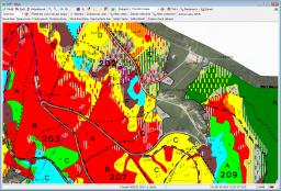 Prohlížení map (porostní mapa s ortofoto)
